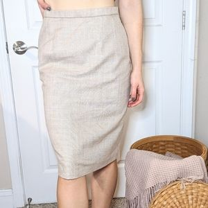 Vintage NWT Pendleton Tan Pencil Skirt
